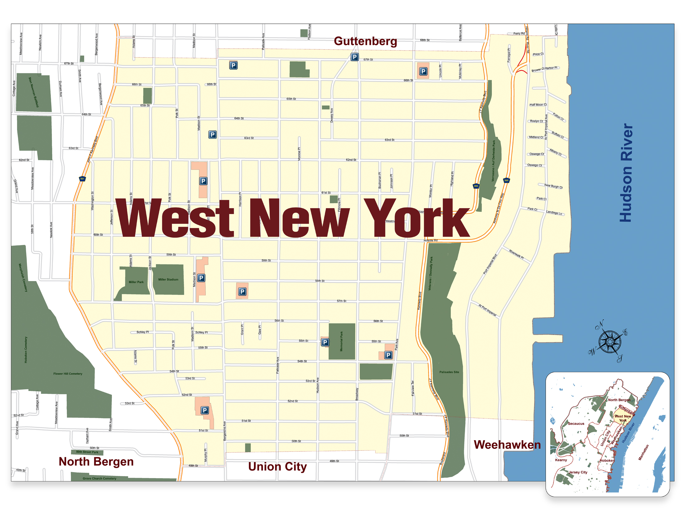 Street Parking Regulations Nyc Map.Facilities Street Meters West New York Parking Authority